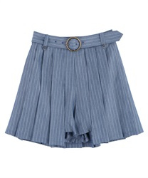 Pleated Layered Culottes(Saxe blue-Free)