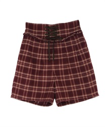 Lace-up cuttloe pant(Wine-Free)