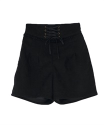 Lace-up cuttloe pant(Black-Free)