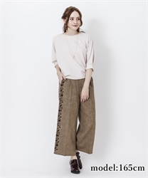 Side flocky pant(Brown-Free)