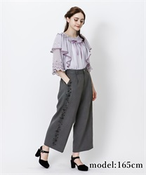 Side flocky pant(Black-Free)