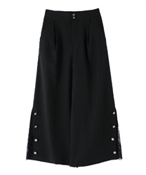 Lacework Wide Pants(Black-Free)