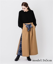 Scarf wide pant(Camel-Free)