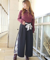 Scarf wide pant