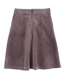 Corduroy A-Line Skirt(Greige-M)