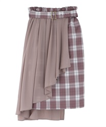 Chiffon Layered Middle Skirt