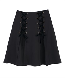 Lace-up design skirt(Black-Free)