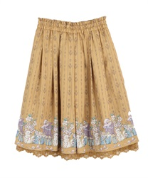 Cat and present box skirt(Camel-Free)