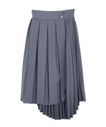 Double pleated ashime skirt(Blue-Free)