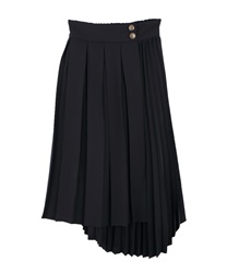 Double pleated ashime skirt(Black-Free)
