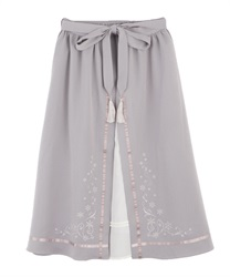Snow embroidery skirt(Lavender-Free)