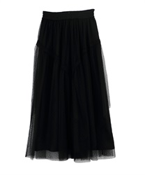 Long skirt_TS291X08P(Black-Free)