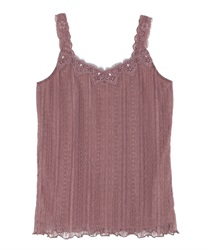 Full Lace Cami Tank(DarkPink-Free)
