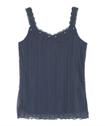 Full Lace Cami Tank(Navy-Free)