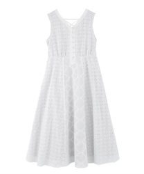 Lace Patchwork Dress(White-Free)