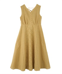 Lace Patchwork Dress(Yellow-Free)