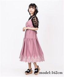 Hem Embroidered Dress