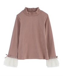 Tulle Lace Pullover(Pale pink-Free)