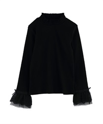 Tulle Lace Pullover(Black-Free)