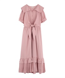 Vintage Sailor Dress(DarkPink-Free)