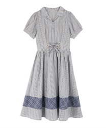 lace-up dress(Grey-Free)