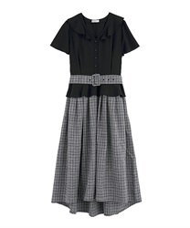 Docking Dress with Belt(Black-Free)