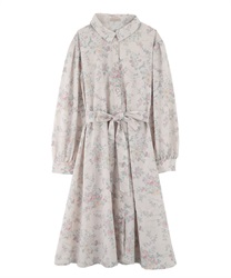 【Uniform price】Vintage floral dress(Pale pink-Free)