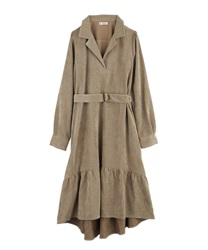【MAX70%OFF】Corduroy Mullet Dress(Beige-M)
