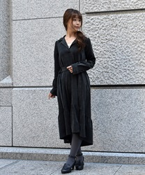 Corduroy Mullet Dress(Black-M)