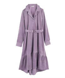 Corduroy Mullet Dress(Lavender-M)