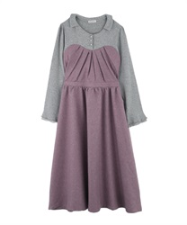Layered dress(Lavender-Free)