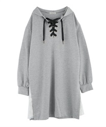 Hoodie tunic(Heather grey-Free)