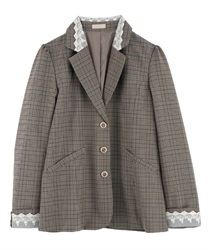 Back pleated jacket(Brown-Free)