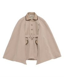 Pipping cape coat(Beige-Free)