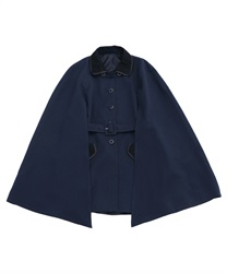 Pipping cape coat(Navy-Free)