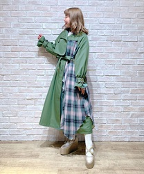 Bicolor ashime long coat
