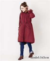 Font embroidery mods coat(Wine-M)