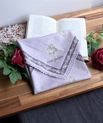 Lace for edgings bouquet patterned handkerchief