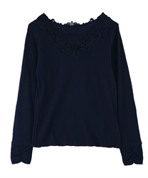 Undergarment with Motif Lace(Navy-Free)