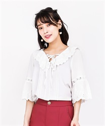 Lace-up blouse