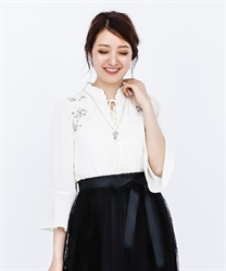 Lily Embroidery Bell Sleeves BL