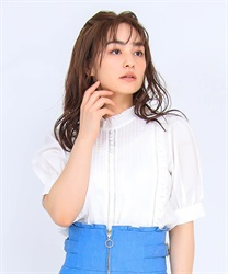 Pin Tuck Cotton Blouse(White-Free)