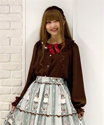 Sweets embroidery blouse(Brown-Free)