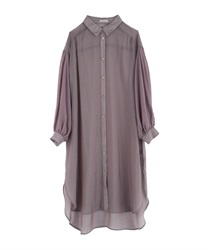 Sheer long shirt(Purple-Free)