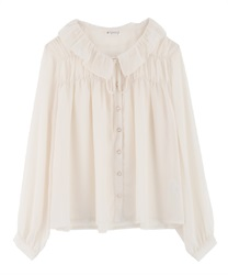 Gathered blouse(Ecru-Free)