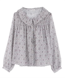 Gathered blouse(Pale pink-Free)