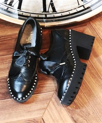 Pearl chips shoes(Black-S)