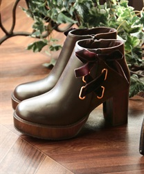 Side lace up boot(Brown-S)