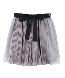Pleated Shorts with Side Lace(Grey-Free)