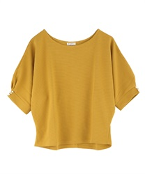 Dolman sleeve pullover with button(Yellow-Free)